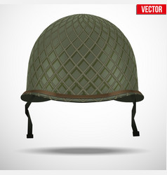 Military US helmet M1 WWII with net vector image vector image