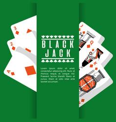 poker black jack cards casino deck gambling vector image