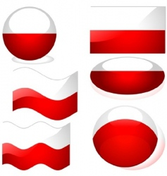 poland flags vector image vector image