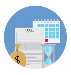 tax icon concept vector image vector image