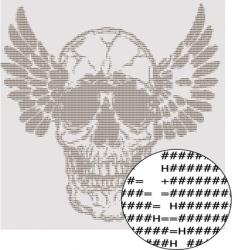text skull design vector image vector image