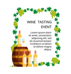 wine tasting concept for invitation card vector image vector image
