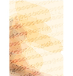 Bsckground with handmade musical notes vector image