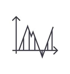 diagram timelinespectrogram line icon vector image