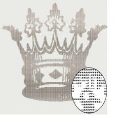 text crown design vector image vector image