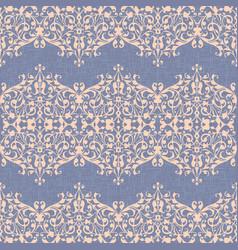 damask ornament linen seamless background vector image
