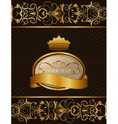 decorative background with crown vector image vector image