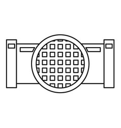 drain system icon outline style vector image
