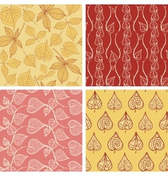 Leaf patterns collection vector image vector image