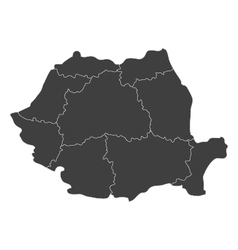 map of romania with regions vector image