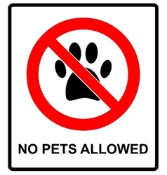 no pets icon pets forbidden vector image