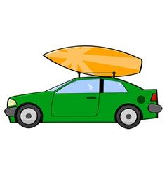 Surfer car vector image