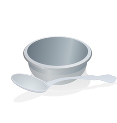 a cup and spoon vector image vector image