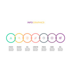 business infographics timeline with 7 options vector image vector image