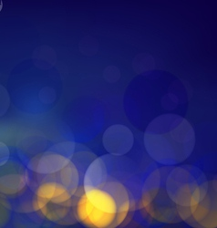 Classic blue bokeh background vector image