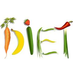 Diet sign vector image