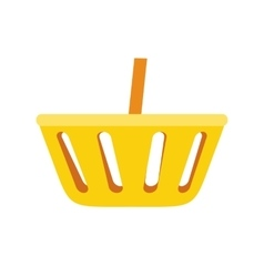 Simple shopping basket icon vector