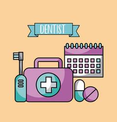 Accessories dentist job vector