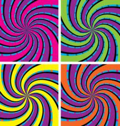 acid swirls vector image