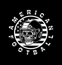 american football skull with helmet vector image