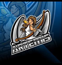 artemis esport mascot logo design vector image