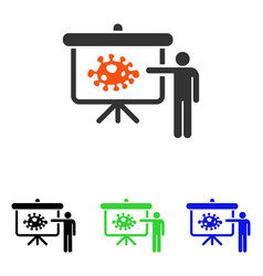 Bacteria lecture flat icon vector
