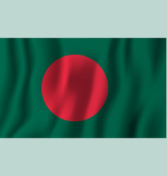 bangladesh realistic waving flag national vector image