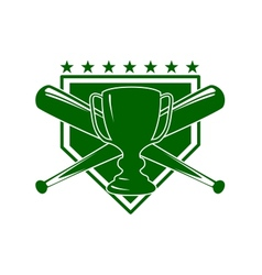 Baseball symbol vector image