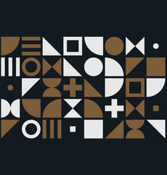 Bauhaus art simple shape pattern background vector
