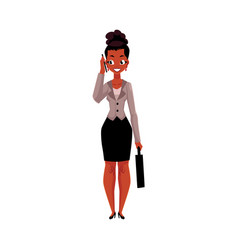black african american businesswoman with vector image