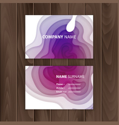 business card template with colorful abstract vector image