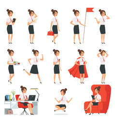 businesswoman characters business ladies vector image