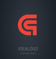 C and q initial logo and q initial monogram vector