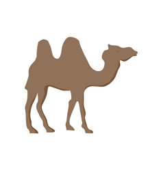 camel cartoon silhouette vector image