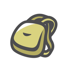 camping backpack travel bag cartoon vector image