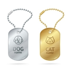Cat Dog Animal Tags or Medallion vector