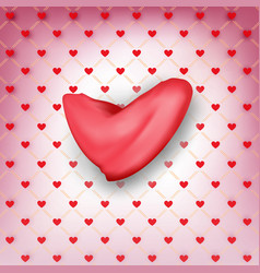 center of valentines heart wrapping paper with vector image