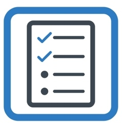 Checklist Page Flat Icon vector