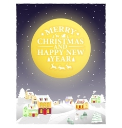 Christmas vintage greeting card on winter vector