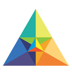 chromatic triangle vector image