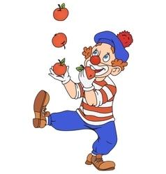 Circus Clown Juggling vector image vector image