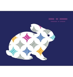 Colorful marble textured tiles bunny rabbit vector