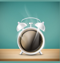 cup coffee in form alarm clock vector image