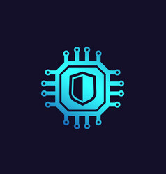 Cybersecurity data protection icon vector
