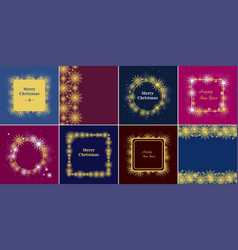 decorative square christmas and new year round vector image