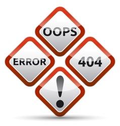 Error 404 Warning Sign vector image
