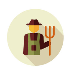 Farmers flat icon vector