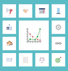 Flat icons task list goal handshake vector