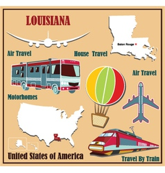 Flat map of Louisiana vector image