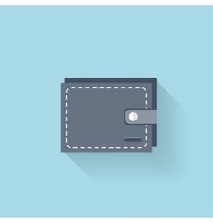 Flat web icon Wallet vector image